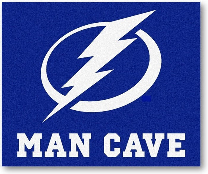 Tampa Bay Lightning NHL Man Cave Tailgate Rug - Sports Fans Plus