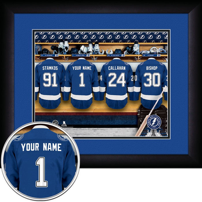 Tampa Bay Lightning NHL Personalized Locker Room Print - Sports Fans Plus  - 1