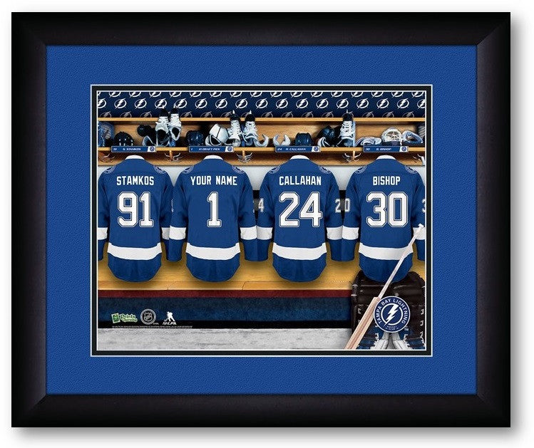 Tampa Bay Lightning NHL Personalized Locker Room Print - Sports Fans Plus  - 2