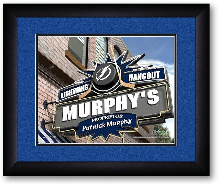 Tampa Bay Lightning NHL Personalized Pub Print - Sports Fans Plus  - 2