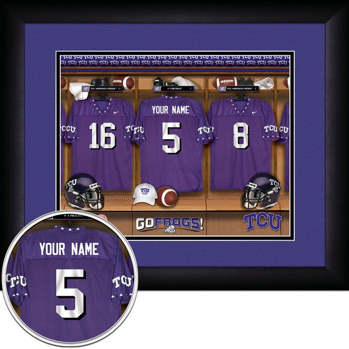 TCU Horned Frogs Personalized Locker Room Print - Sports Fans Plus  - 1