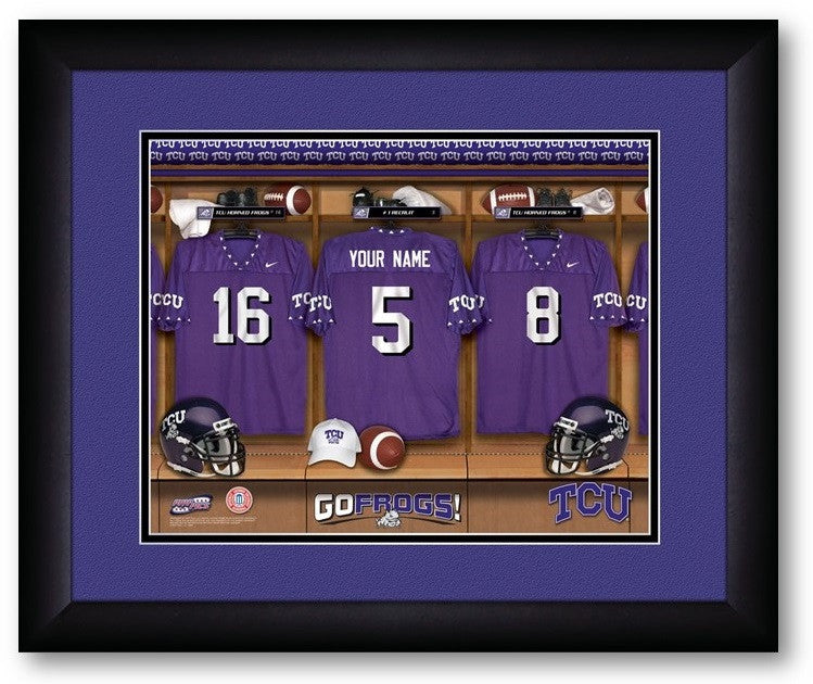 TCU Horned Frogs Personalized Locker Room Print - Sports Fans Plus  - 2
