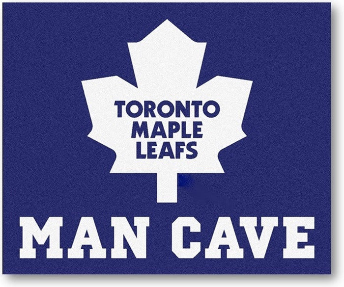Toronto Maple Leafs NHL Man Cave Tailgate Rug - Sports Fans Plus
