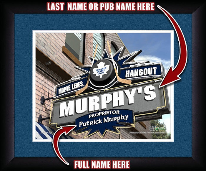Toronto Maple Leafs NHL Personalized Pub Print - Sports Fans Plus  - 1