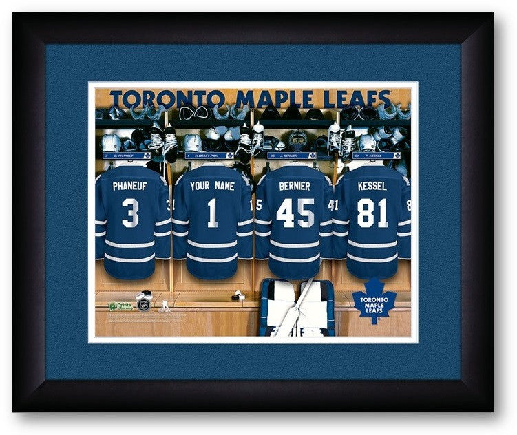 Toronto Maple Leafs NHL Personalized Locker Room Print - Sports Fans Plus  - 2