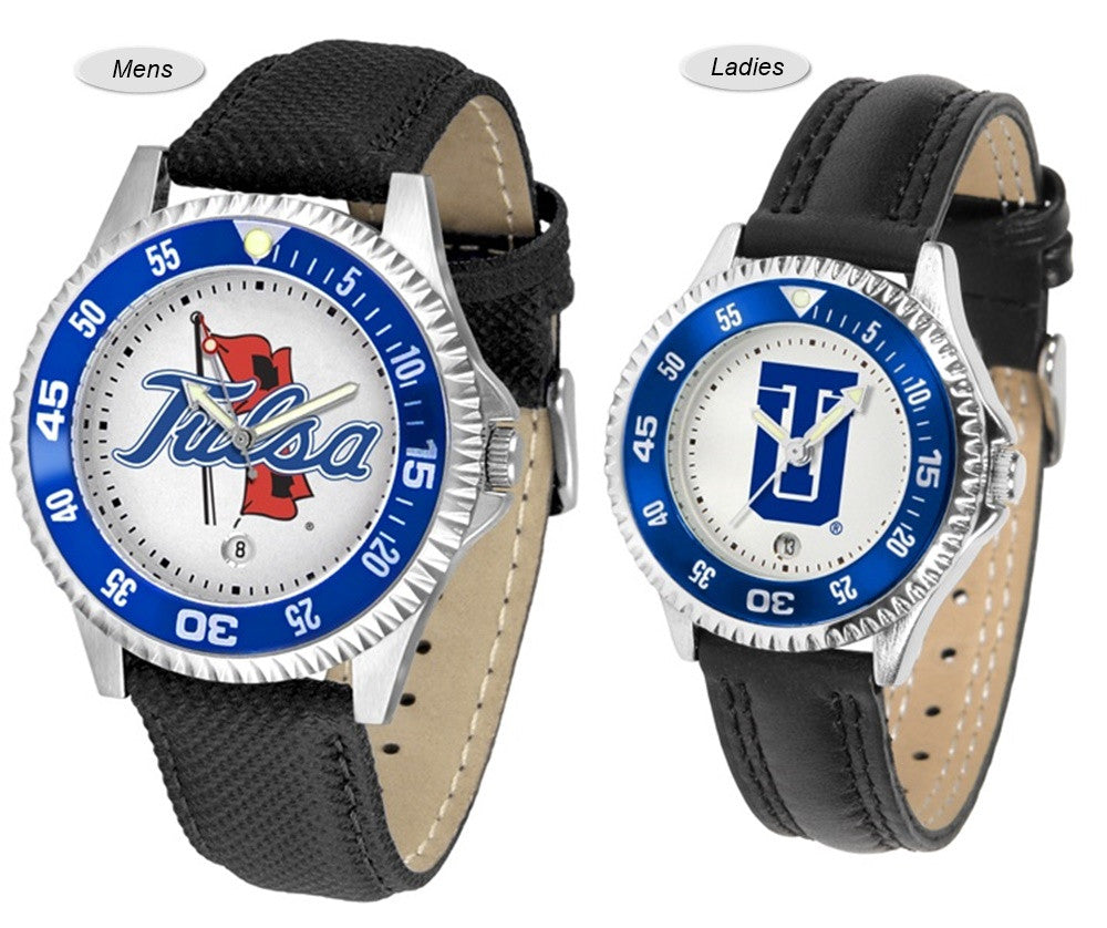 Tulsa Golden Hurricane Competitor Sport Leather Watch