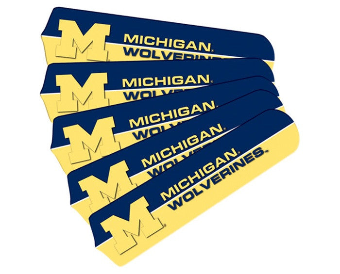 Michigan Wolverines 52-Inch Ceiling Fan Blade Set - Sports Fans Plus