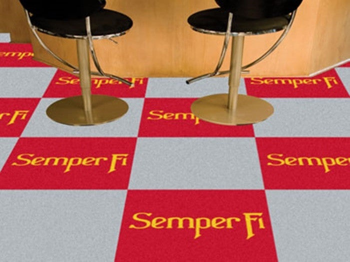 US Marine Corps Carpet Tiles - Sports Fans Plus