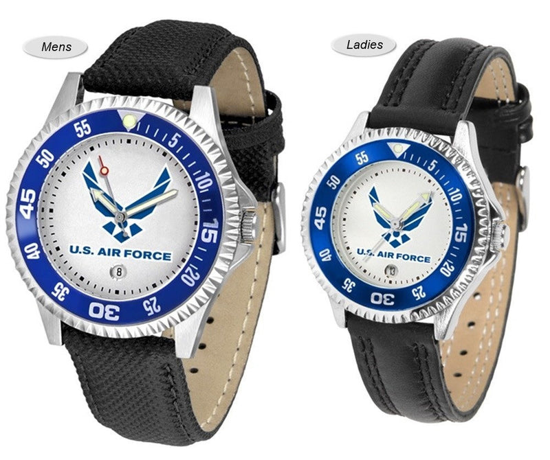 US Air Force Competitor Sport Leather Watch
