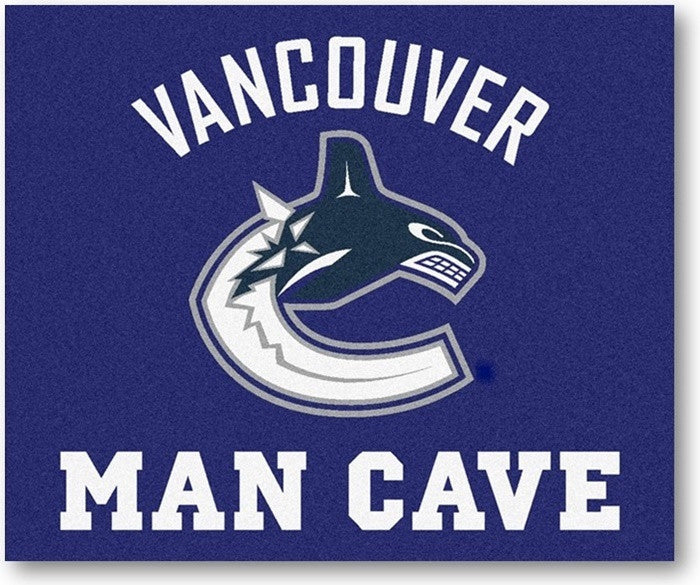Vancouver Canucks NHL Man Cave Tailgate Rug - Sports Fans Plus