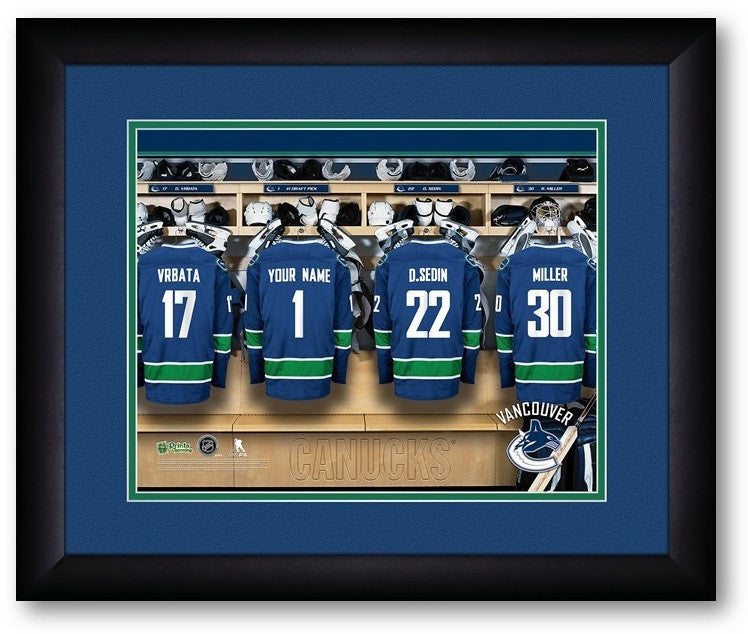 Vancouver Canucks NHL Personalized Locker Room Print - Sports Fans Plus  - 2
