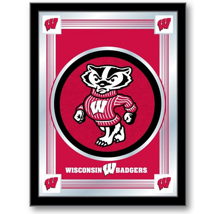 "Wisconsin Badgers ""Bucky"" Logo Mirror"