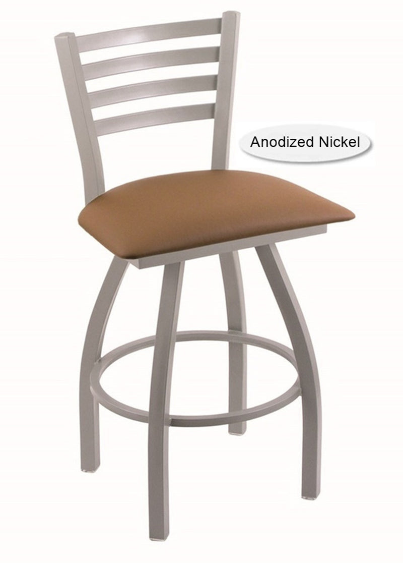 Big and Tall XL Anodized Nickel Jackie Swivel Bar Stool