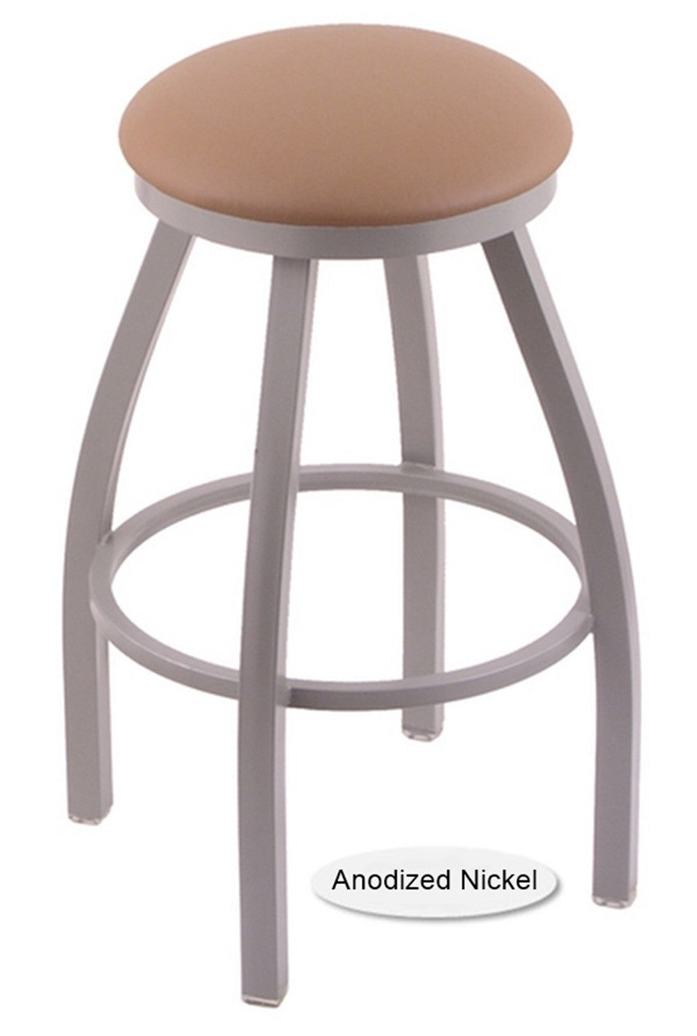 Big and Tall XL Anondized Nickel Misha Swivel Bar Stool