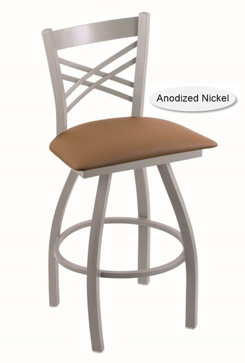 Big and Tall XL Anodized Nickel Catalina Swivel Bar Stool