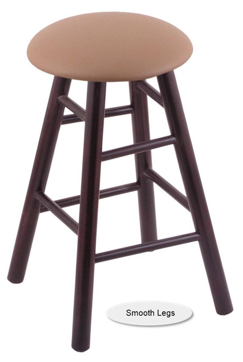 Big and Tall XL Wood Round Cushion Swivel Bar Stool - Smooth Legs
