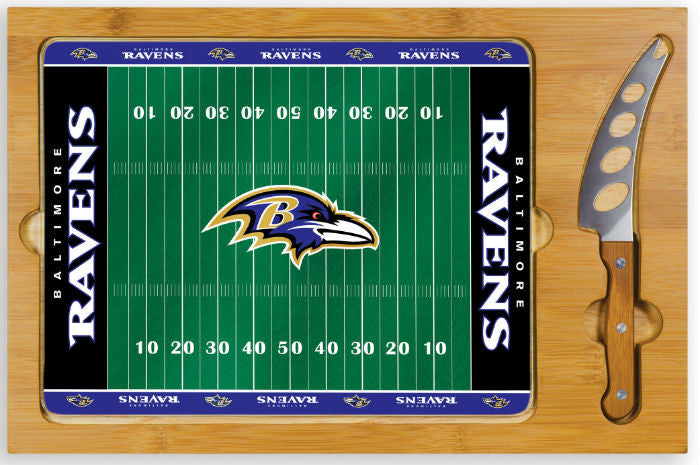Baltimore Ravens NFL Icon Cheese Board - Sports Fans Plus