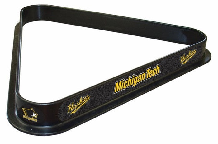 Michigan Tech Huskies Logo Billiard Triangle Rack