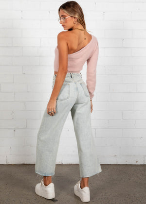 Rule Breaker Cropped Sweater - Pink