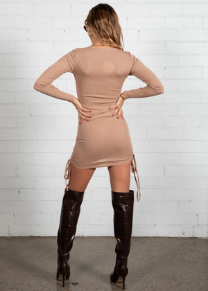 No Filters Mini Dress - Nude