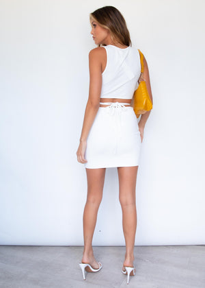 Peyton Mini Skirt - White