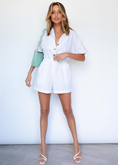 Moody Playsuit - Off White