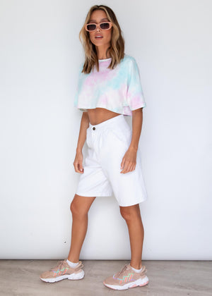 Camile Crop Tee - Candy Tie Dye