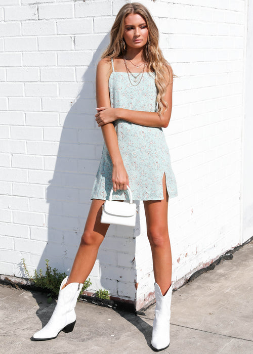 Lovers Lane Mini dress - Sage Floral