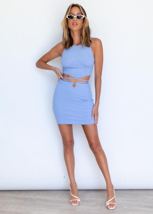 Peyton Mini Skirt - Blue
