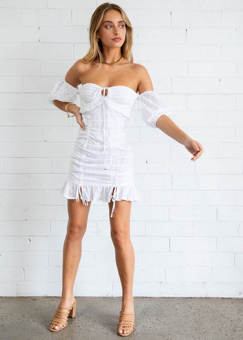 Esperanza Mini Dress - White