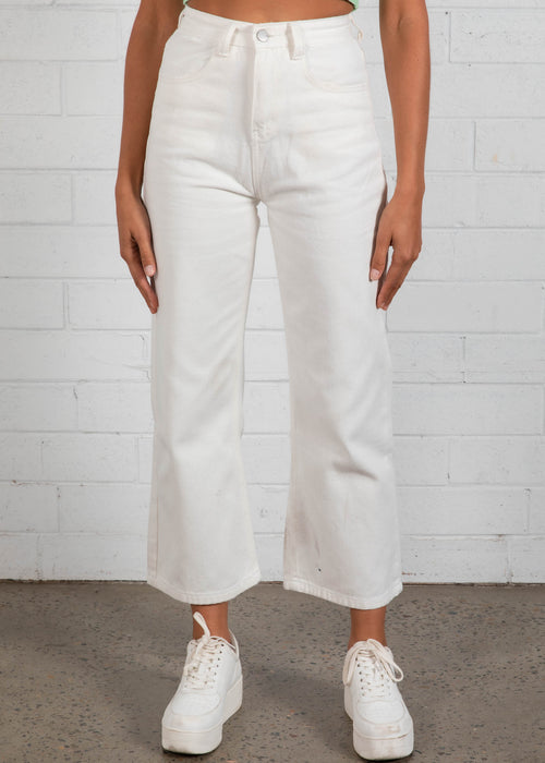 Rhythm Wide Leg Jeans - White