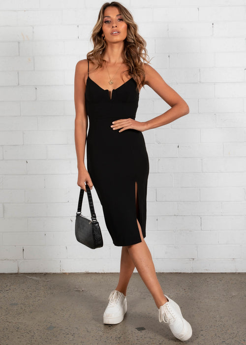 Gonna Be Midi Dress - Black