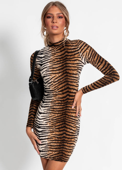 Zaylee Mini Dress - Tiger
