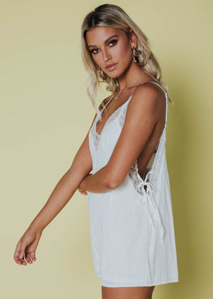 Angel Energy Lace Playsuit - White