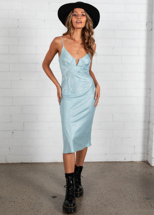 Assassin Midi Dress - Aqua