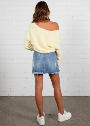 Kianna Cropped Sweater - Yellow