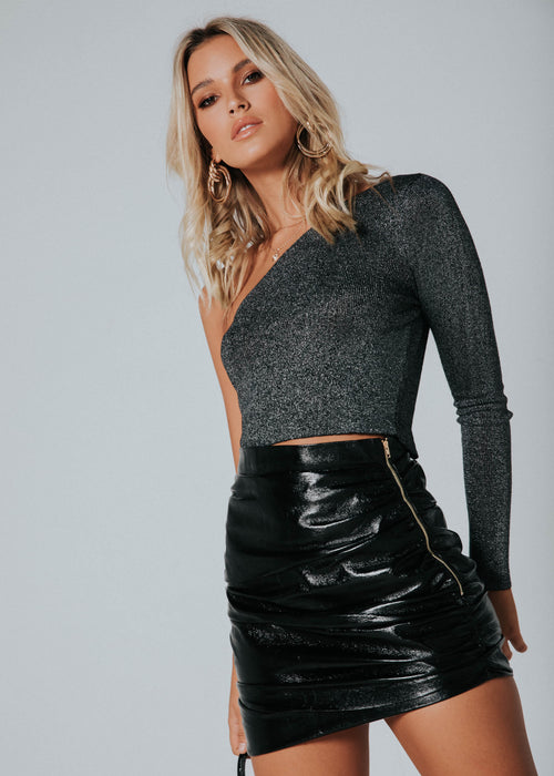The Glow Up Mini Skirt - Black