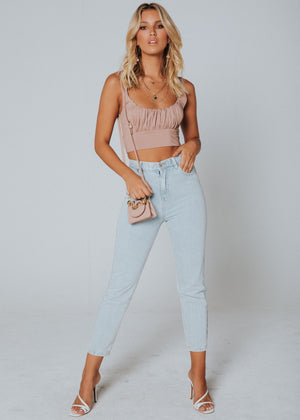 Dakota Crop - Dusty Pink