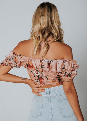 Queenie Crop - Rose Floral