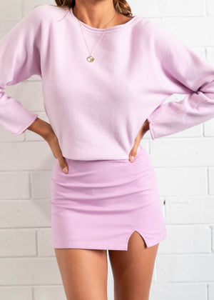 Forbidden Mini Skirt - Lilac