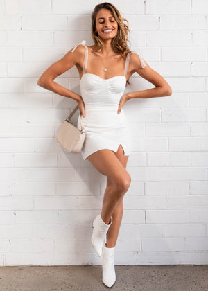 Forbidden Mini Skirt - White