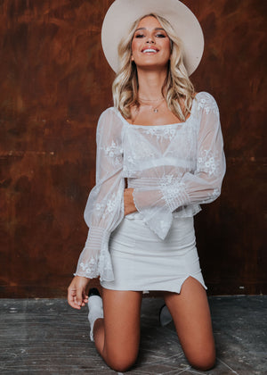 Giselle Lace Blouse - White