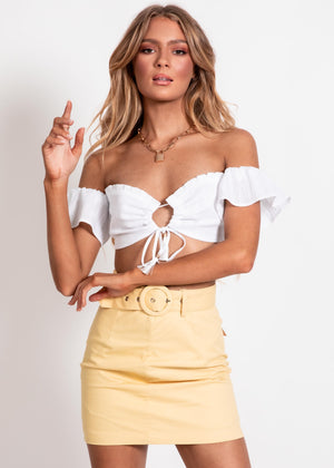Hazel Mini Skirt - Lemon