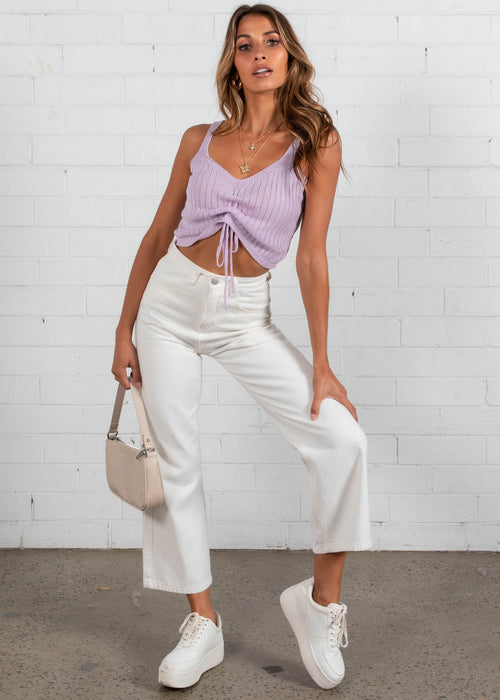 Talu Knit Crop - Lilac