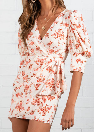 Bryn Dress - White Floral