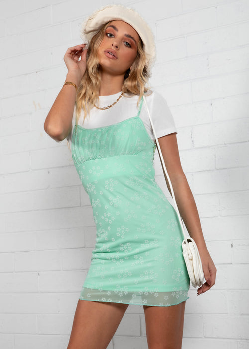 Addison Mini Dress - Mint