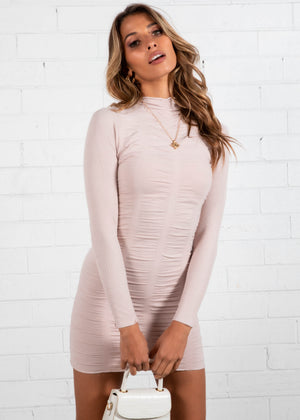Alexis Knit Mini Dress - Blush