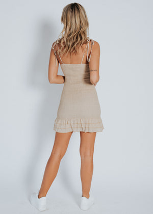 Cody Mini Dress - Beige