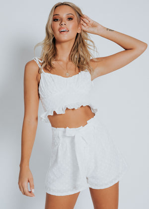 Avalon Crop - White