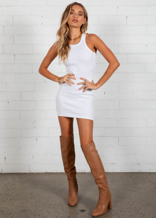 Polly Mini Dress - White